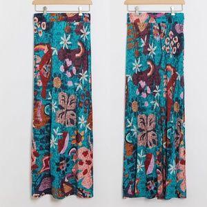 NWT ANTHROPOLOGIE Farm Rio Gabriela Maxi Skirt M